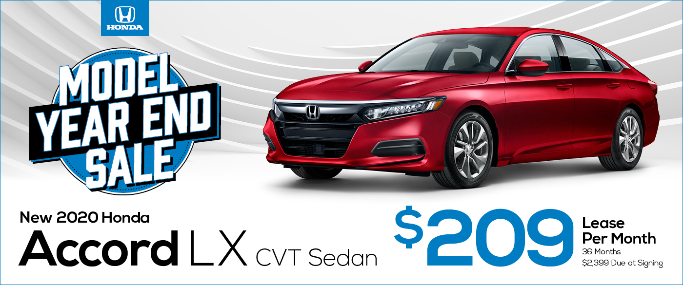2020 Honda Accord Sedan - On Sale During the Model Year End Sale